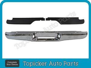 1995 2004 Tacoma Standard Bed Type Rear Step Bumper Face Bar Chrome Pad Set 3pcs