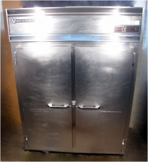 "Victory RS 2D S7 EW 59"" Extra Wide Solid Door Stainless Steel Refrigerator"