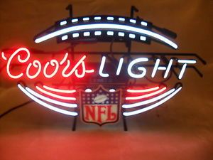 Coors Light NFL Football Neon Sign Bar Sign Pub Sign Man Cave Good Working Cond
