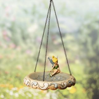 Disney Jim Shore Garden Tinkerbell Birdbath Tinker Bell Hanging Bird Feeder Bath