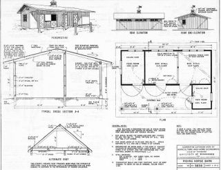 306 Modern Farm Plans Horse Barn Trailer Greenhouse Log Cabin Rodeo BBQ House