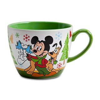 Disney Ceramic Holiday Coffee Cup Mickey Minnie Mouse Christmas Cappuccino Mug