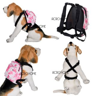Backpack Soft Body Harness Carrier Harness Dog Puppy Pet Cat Saddle Bag Pink