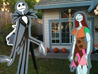 Nightmare Before Christmas Halloween Lawn Decorations Sally Jack Zero Oogie