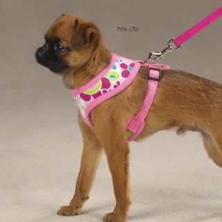 Casual Canine Mod Print Soft Dog Harness Pink Print
