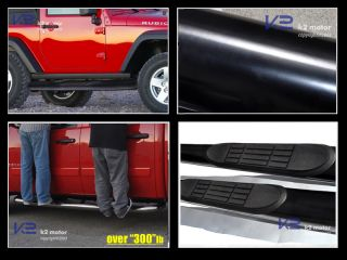2007 2013 Jeep Wrangler 2dr Running Board Nerf Side Step Bars Black