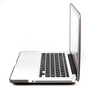 Grey Rubberized Hard Case Screen Protector Keyboard Cover for MacBook Pro 13""