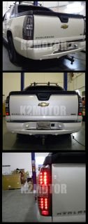 2007 2012 Chevy Avalanche Black LED Tail Lights Lamps