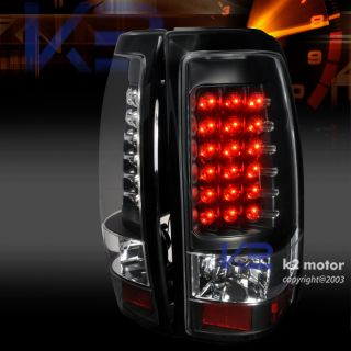 LED 2003 2006 Chevy Silverado 1500 Tail Lights Lamp Blk