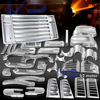 06 09 Hummer H2 Chrome Exterior Trim Kit Taillight Gas Door Handle Mirror Cover