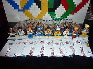 Lego Olympics Great Britain GB Team Minifigures Complete Set of 9