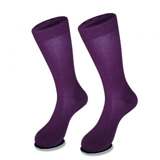 1 Pair of Antonio Ricci Dark Purple Color Men's Cotton Dress Socks New