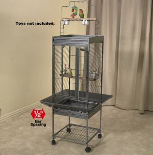 "New Super Pet EZ Care Playtop Cage for Small Birds with 1 2"" Bar Spacing 84147"