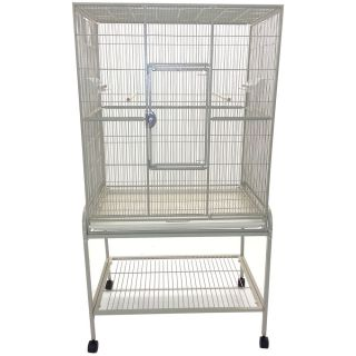 A E Cage Company Flight Bird Cage White