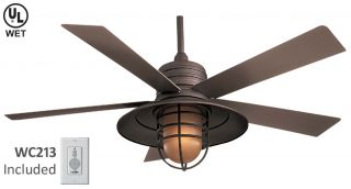 Rainman Outdoor Bronze Ceiling Fan Minka Aire F582 ORB