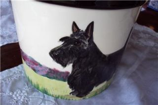 Scottish Terrier Scottie Dog Treat Jar Canister Ceramic Handpainted Zeppo Studio