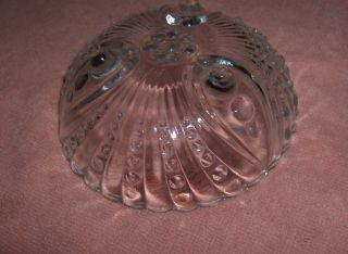 Anchor Hocking Clear Depression Glass Oyster Pearl 5 PC Fruit Bowls
