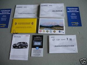 2010 GMC Acadia Owners Manual Guide Books Navigation