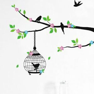 Removable Wall Decals Bird Cage