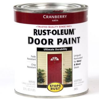 4 Quarts of Rust Oleum Stops Rust Door Paint Cranberry