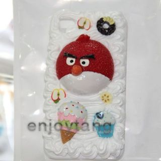 3D Angry Birds Cake Cream Case Cover for iPhone 4 4G