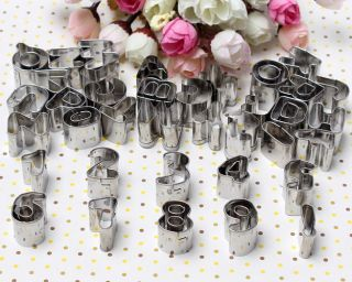 37pcs Alphabet Letter Number Cake Cookies Pastry Fondant Decorating Cutters Tool