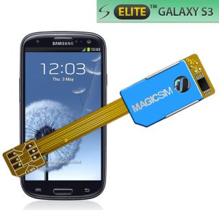 Dual Sim Card Adapter for Samsung Galaxy S3 Elite No Cutting 3G UMTS UK