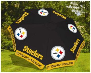 Pittsburgh Steelers NFL 9' Beach Outdoor Market Patio Table Umbrella