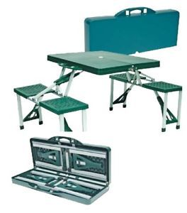 World Famous Folding Picnic Table Set Camping BBBQS