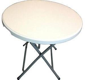 80cm 2 5ft Dia Round Folding Table Foldable Camping Picnic Garden Tables New