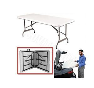 1 8M 6 ft Heavy Duty Folding Table Camping Banquet Picnic Party Garden Table