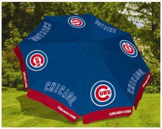 Chicago Cubs MLB 9' Beach Outdoor Market Patio Table Umbrella