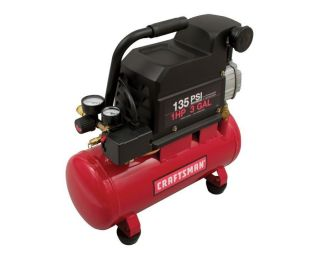 Craftsman 3 Gallon Portable Air Compressor 1HP 2 4 SCFM 90PSI 135 PSI Max