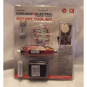 80 Piece Rotary Tool Kit Chicago Electric Power Tools Grinder Polisher New