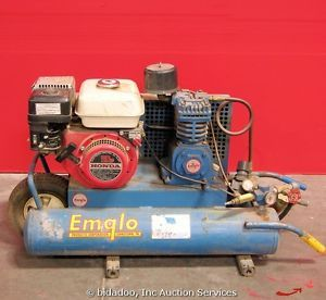 Emglo Portable Air Compressor K5HGA 8P Dual Tank Honda GX140 Gas Engine