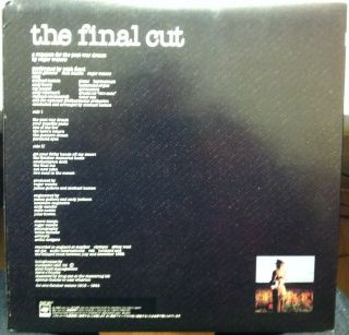 Pink Floyd The Final Cut LP Mint 25AP 2410 Vinyl 1983 Record