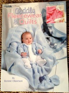 Pattern Quilt Quilting Cuddly Fleece Layette Baby Boy Girl Blanket Jacket Hat