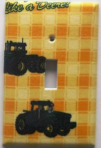 Unbreakable John Deere Tractor Light Switch Outlet Cover Boys Bedroom Wall Decor