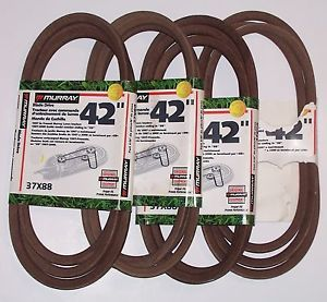 "4 Belts Murray 37X88MA 37x88 42"" Scotts x8 Lawn Tractor Riding Mower 710213"