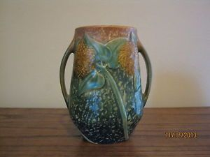 Roseville Pottery Double Handled Sunflower Vase