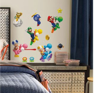 35 Super Mario Bros Wii Luigi Yoshi Kids Decor Wall Decals Stickers Stick UPS