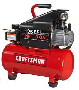 Air Compressor Craftsman New 3 Gallon 1 HP 125 PSI Namebrand Portable Tank Hose
