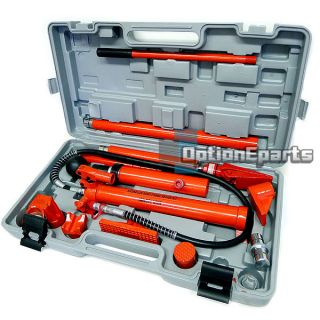 10 Ton Porta Power Hydraulic Jack Body Frame Repair Kit Tools RAM Pump Lift Auto