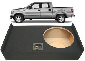 "2009 2013 Ford F150 Super Crew Cab Truck Single 12"" Subwoofer Enclosure Sub Box"