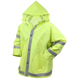 Safety Green Reflective Police Security Construction EMT EMS Gear Rain Jacket