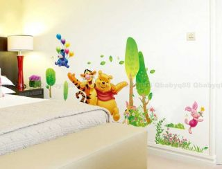 Winnie The Pool Wall Decals Removable Stickers DIY Decor Kids Nursery Room Gift