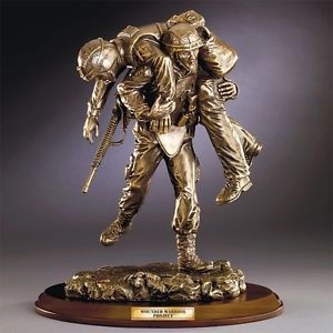 Franklin Mint Wounded Warrior Sculpture B11G555