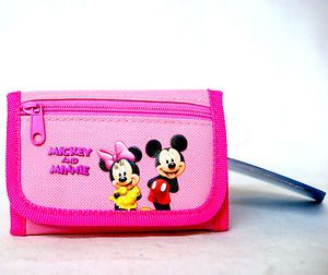 Officially Licensed Disney Mickey Minnie Mouse Girls Pink Wallet