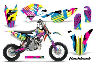 AMR Racing Dirt Bike Graphic Kit Decal Sticker KTM SX50 Parts SX 50 09 12 Flash