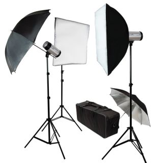 500W Photography Studio Photo Flash Umbrella Light Kit